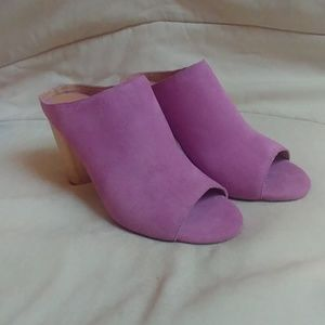 Like new lavender mules by Urban Outfitters